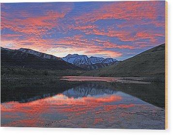 Lake Of Fire Wood Print