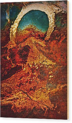 Lake Of Lava Wood Print