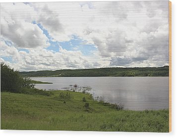 Wood Print featuring the photograph Lake Of The Prairies by Ryan Crouse