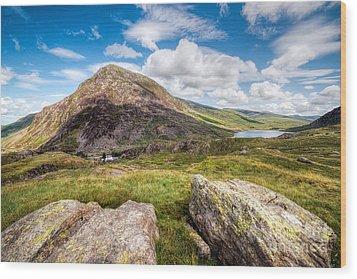 Lake Ogwen Wood Print by Adrian Evans