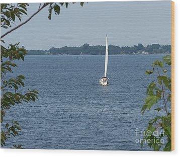 Lake Ontario Sailing Wood Print by Kevin Croitz