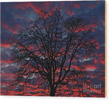 Lake Oswego Sunset Wood Print