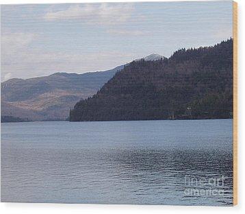 Lake Placid Mountains Wood Print by John Telfer
