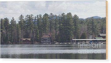 Wood Print featuring the photograph Lake Placid Summer House by John Telfer