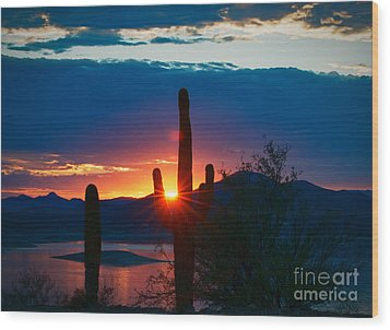Lake Pleasant Arizona Wood Print