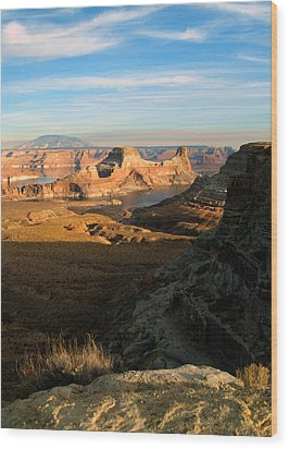 Lake Powell From Alstrum Pt 02 Wood Print by Jeff Brunton