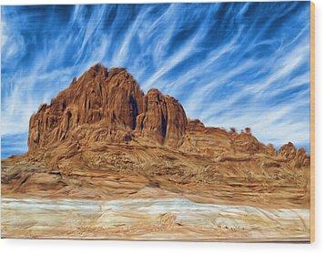 Lake Powell Rocks Wood Print by Ayse and Deniz