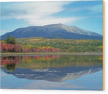 Wood Print featuring the photograph Lake Reflection by Gene Cyr