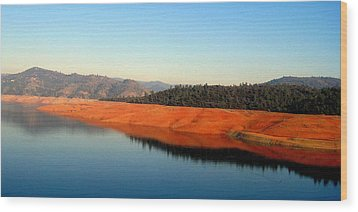 Wood Print featuring the photograph Lake Reflections by AJ  Schibig