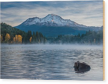 Lake Siskiyou Morning Wood Print
