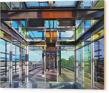 Lake Street Rail Station Wood Print