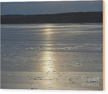 Lake Sunset 10 Wood Print by Ingrid L