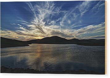 Lake Sunset In The Wichita Mountains Wood Print