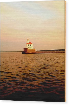 Lake Superior Serenity  Wood Print by Danielle  Broussard