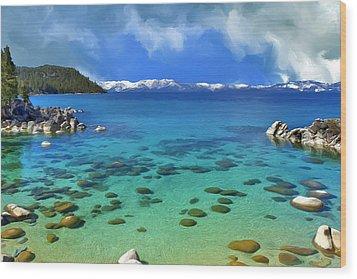 Lake Tahoe Cove Wood Print by Dominic Piperata