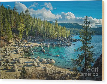 Lake Tahoe Hidden Cove Wood Print