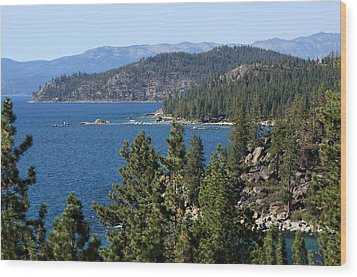 Lake Tahoe Nevada Wood Print by Aidan Moran