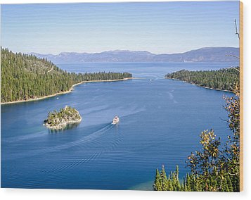 Lake Tahoe Paddle Boat Wood Print