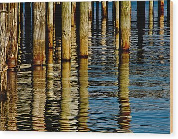 Lake Tahoe Reflection Wood Print by Bill Gallagher