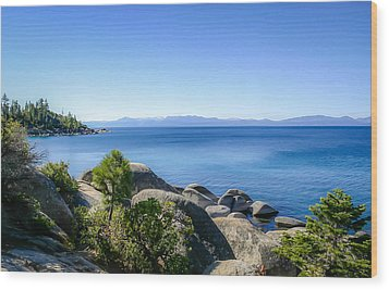 Lake Tahoe Shore Wood Print