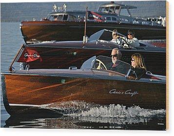 Lake Tahoe Speedboats Wood Print by Steven Lapkin