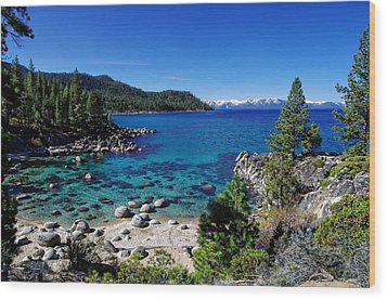 Lake Tahoe Springscape Wood Print by Scott McGuire