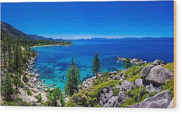 Lake Tahoe Summerscape Wood Print