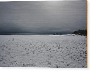 Lake Tahoe Winter Wood Print