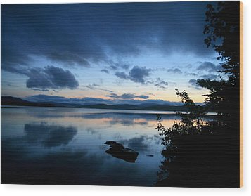 Lake Umbagog Sunset Blues No. 2 Wood Print