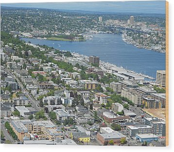 Lake Union Panorama Wood Print