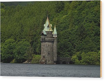 Wood Print featuring the photograph Lake Vyrnwy Straining Tower by Stephen Taylor