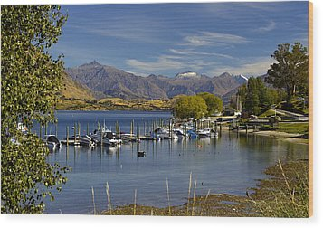Beautiful Lake Wanaka New Zealand Wood Print by Venetia Featherstone-Witty