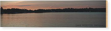 Lake Webster Indiana Wood Print by Thomas Fouch