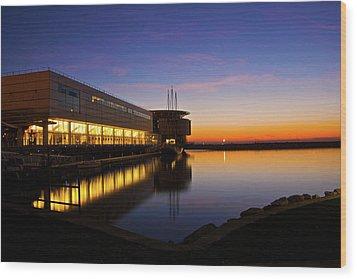 Lakefront Sunrise Wood Print by Jonah  Anderson