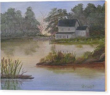 Lakehouse Wood Print