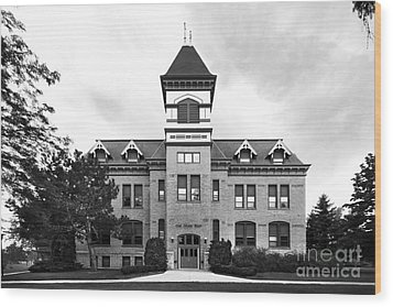 Lakeland College Old Main Hall Wood Print by University Icons