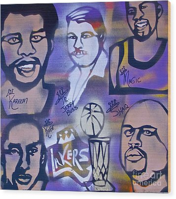 Lakers Love Jerry Buss 2 Wood Print by Tony B Conscious