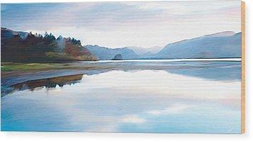 Lakes Wood Print by Neil Kinsey Fagan