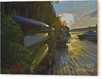 Wood Print featuring the photograph Lakeside by Alice Mainville