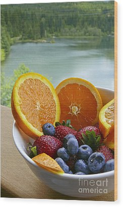 Lakeside Fruit Bowl Wood Print