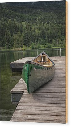 Wood Print featuring the photograph Lakeside Peace by Jacqui Boonstra