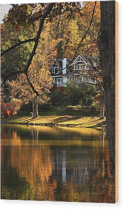 Wood Print featuring the photograph Lakeside Reflects... by Tammy Schneider