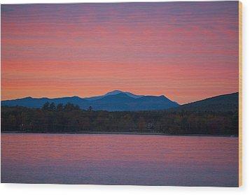 Wood Print featuring the photograph Lakeside Sunset by Larry Landolfi