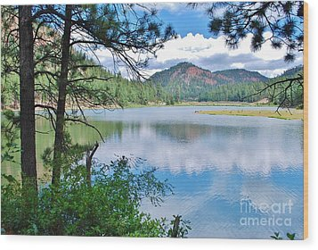Lakeside Wood Print by William Wyckoff