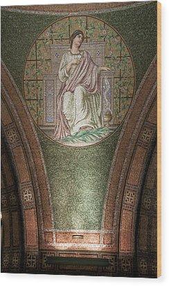 Lakewood Chapel Detail Faith Wood Print by T C Hoffman