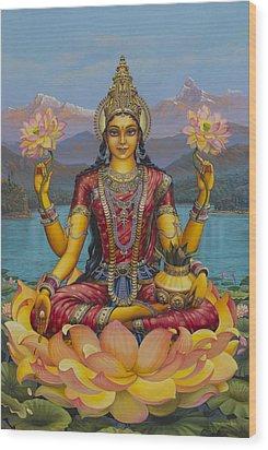 Lakshmi Devi Wood Print