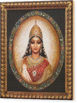 Lakshmi Goddess Of Abundance Wood Print by Ananda Vdovic