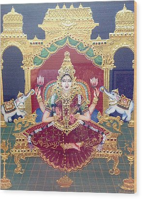 Lakshmi Wood Print by Jayashree