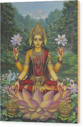 Lakshmi Wood Print by Vrindavan Das