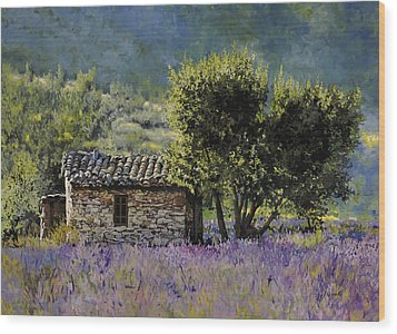 Lala Vanda Wood Print by Guido Borelli